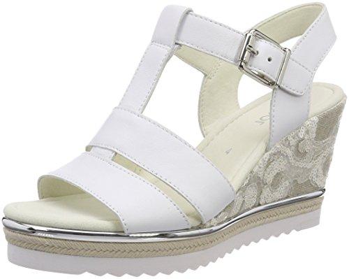 Gabor Women's Basic Ankle Strap Sandals White (Weiss) JiYbVsv