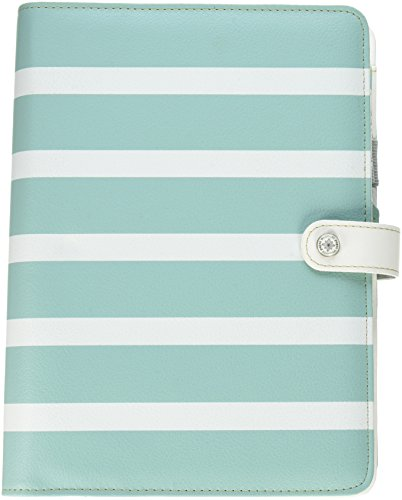Webster's Pages A5PK001-TW-U Teal Stripe Color Crush A5 Faux Leather Planner Kit, 7.5