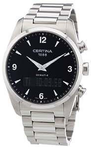 Certina Multi 8 C020.419.11.057.00 - Reloj analógico - digital de cuarzo para hombre, correa de acero inoxidable color plateado (alarma, cronómetro)
