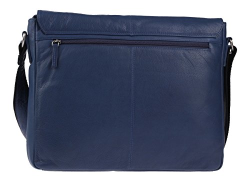 Compartment 37 Messenger Cm Leather Pure A4 Greenburry Blue Notebook Bag nSwg8qO