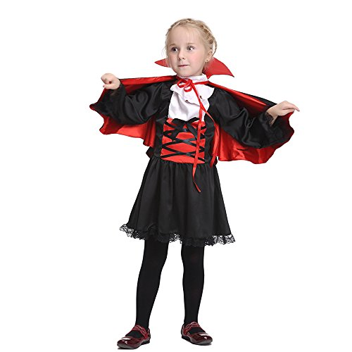 Drizzle Gothic Vampire Princess Costume Kids Halloween Costume(Ages 3-11) (Vampiress Makeup Ideas)