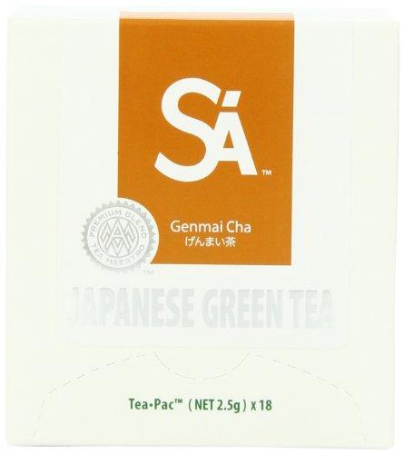 SA Japanese Green Tea, Genmai Cha Tea, 18-Count Tea-Pacs (Pack of 2) by SA Japanese Green Tea