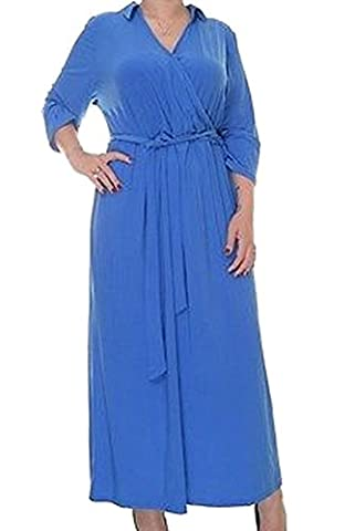NY Collection Womens Plus Matte Jersey Surplice Evening Dress Blue 3X - Matte Jersey Surplice