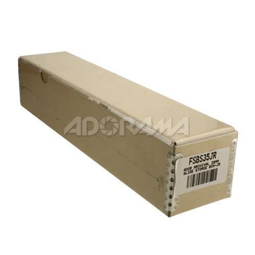Adorama Archival 35mm Size Junior Slide Storage Box with Dividers, Holds 180 Slides 4332009772 FSBS35JR
