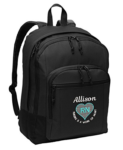 Nurse Backpack Nursing is a Work of Heart RN, LVN,CNA, MA, Personalized Embroidered