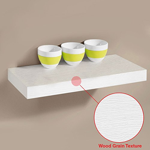 "New White 24"" Venice Floating Wall Shelf - 24""x9""x 1.5"" set"