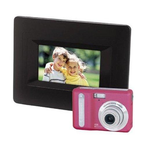 Polaroid i830 Pink ~ 8 MP Digital Camera & 6″ Black Digital Picture Frame Bundle BIA-08360P Review