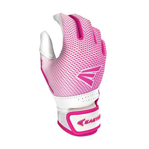 Easton Hyperlite Fast Picth Batting Glove, Girl's, Medium, WHITE/PINK