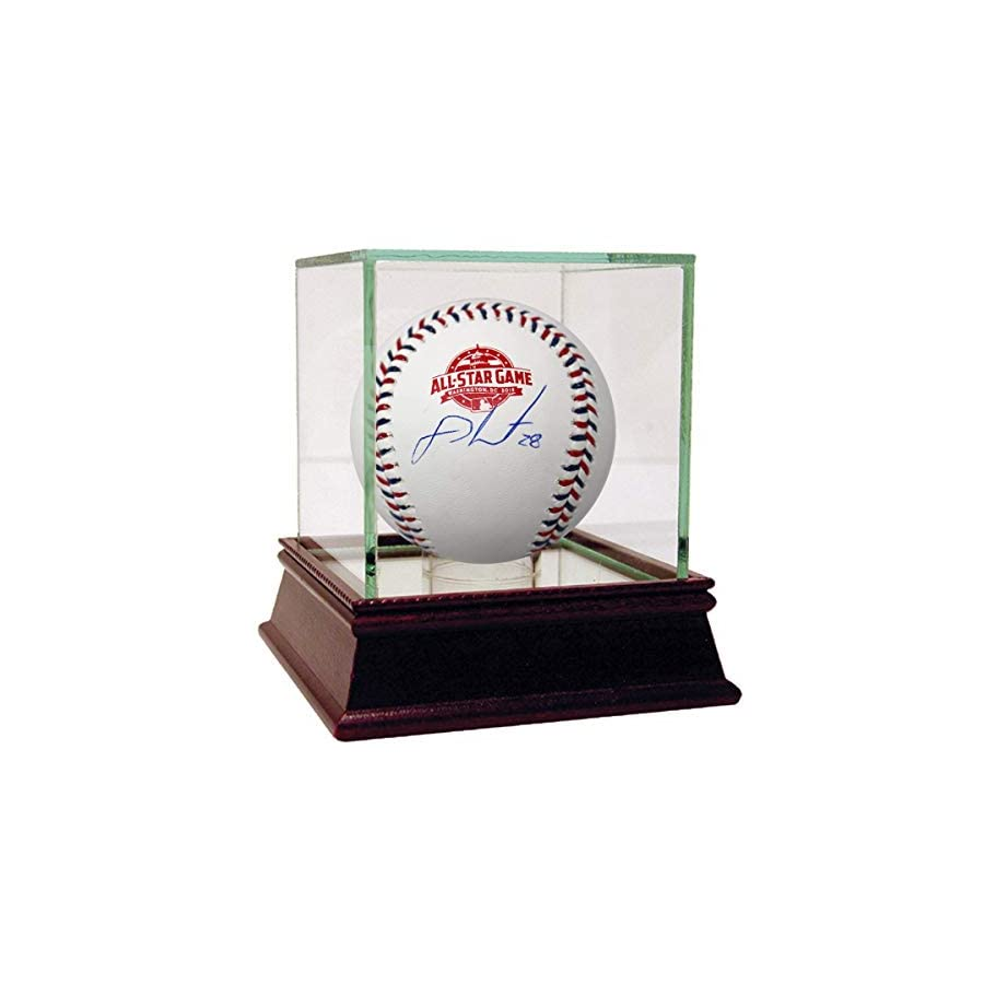 JD Martinez Signed 2018 MLB All Star Game Logo Baseball