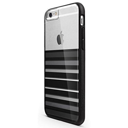 iPhone 6s/6 Plus X-Doria Scene Plus TPU & Polycarbonate Snap-On Protective Designer Shell, Black Stripes