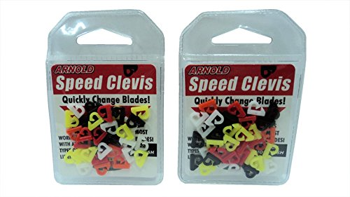 Arnold Tackle - K&E Arnold Speed Clevis - Quickly Change Blades While Fishing - Variety of Colors in Pack! - 2 Packs of 36 (72 Clevises Total) - #SQC-36AST