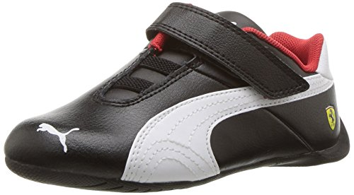 PUMA Baby Ferrari Future Cat Velcro Kids Sneaker, Black White, 5 M US - Ferrari Future Cat