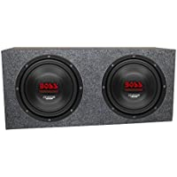 2) Boss CH12DVC 12 3600W Car Subwoofers Subs Woofers 4 Ohm+Sealed Box Enclosure