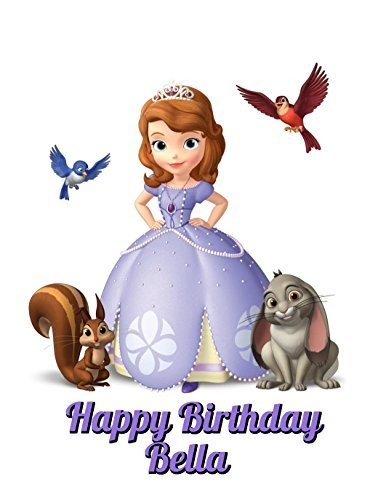 Sofia The First Princess Edible Image Photo Cake Topper Sheet Personalized Custom Customized Birthday Party - 1/4 Sheet - 78530