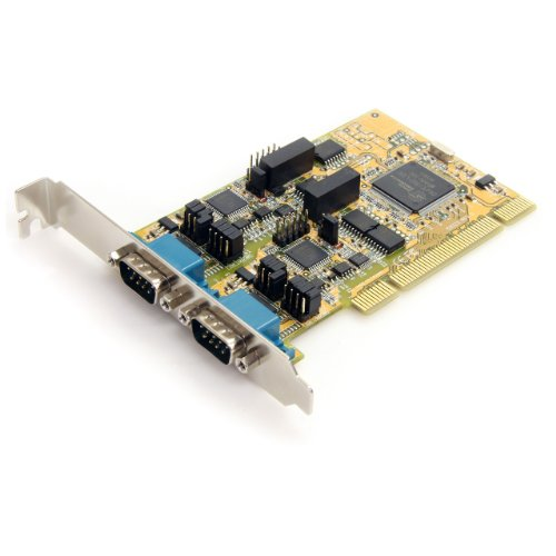 StarTech.com PCI2S232485I 2 Port RS232/422/485 PCI Serial Adapter Card with ESD Protection by StarTech