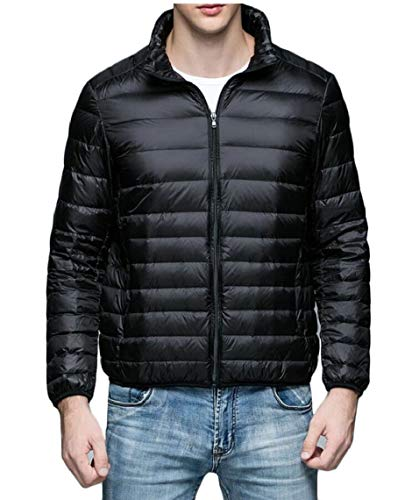 Coat TTYLLMAO Lightweight Jacket Ultra Black Winter Men's Warm Packable Puffer Down xzqpgA