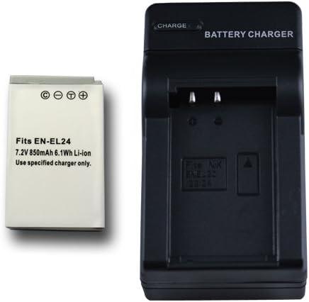 【JC】 充電器セット Nikon/ニコン EN-EL24 互換バッテリー +充電器(コンパクト) Nikon1 J5 対応