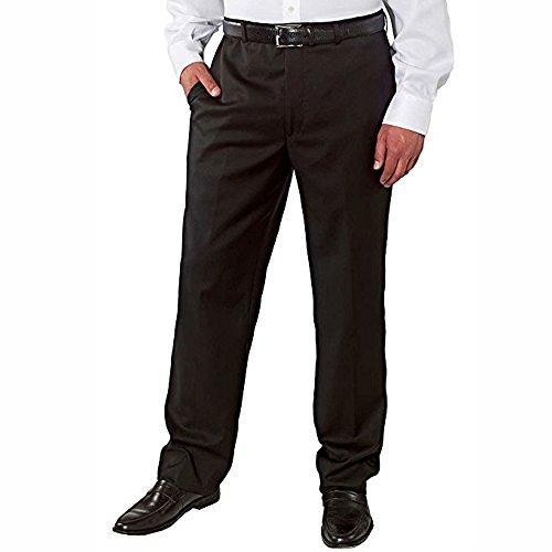 Kirkland Signature Big & Tall - Men's Wool Pleated, Dress Slack Pant, Black, Unfinished Hem, Size 46X38