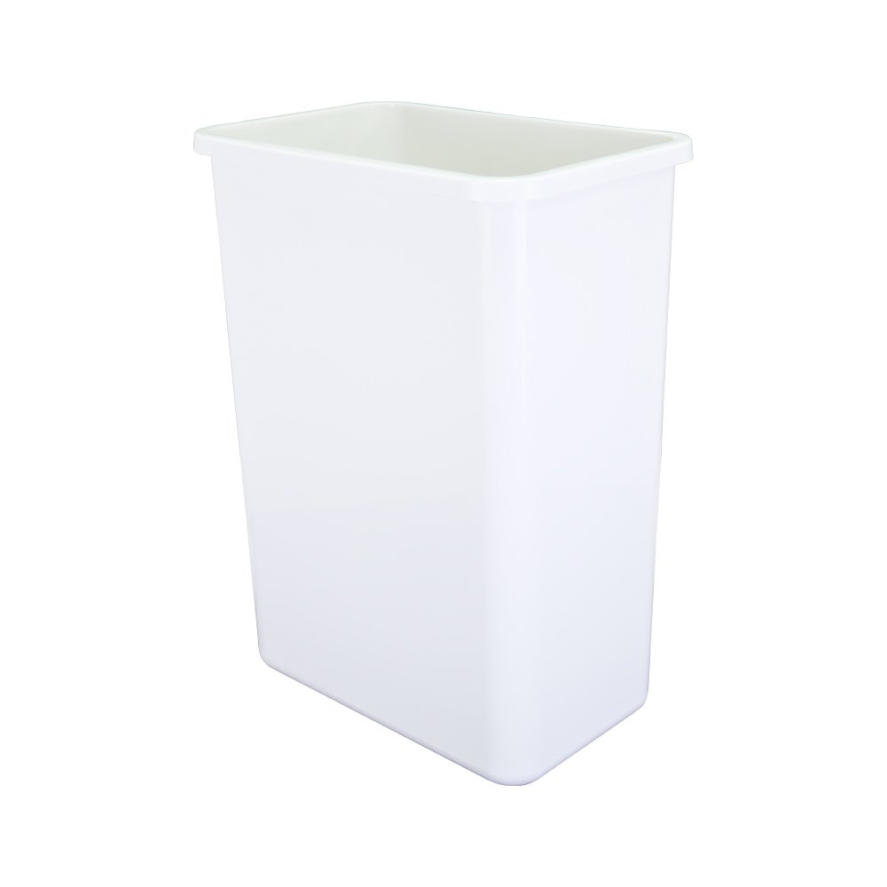 35-quart- White Double Pull-out Waste Container System/2 Cans Included & Doorkit