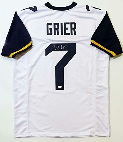 Will Grier Autographed Signed White College Style Jersey - Memorabilia JSA Authentic Silver ()