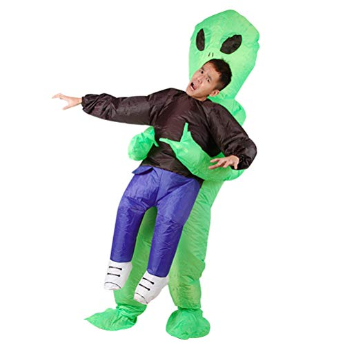 WeiweiSmile Inflatable Alien Clothes Pick Me up Inflatable Blow up Costume -