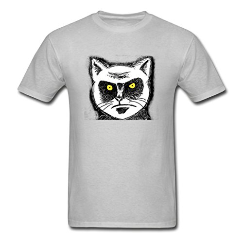 LiliGang Men's Angry Cat Glare T-Shirts ()