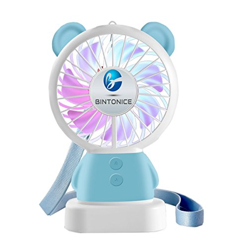 Portable Fan With Led Light in US - 9