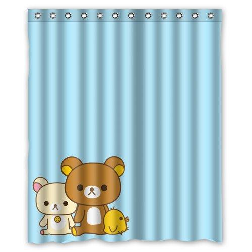 Rilakkuma Bear Custom Shower Curtain 60