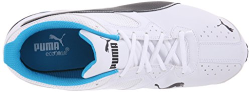 Puma Tazon 6 zapato ancho Cruz-entrenador White-Black-Atomic Blue