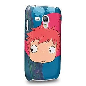 Case88 Premium Designs Ponyo Carcasa/Funda dura para el Samsung Galaxy S3 mini (No Normal S3 !)