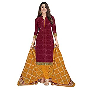 Miraan Women's Cotton Unstitched Dress...