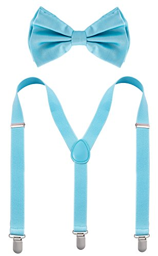 Man of Men - Bowtie & Suspenders Sets - Pastel Colors (Light Blue) -