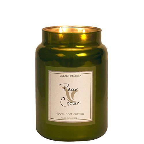 Village Candle - Vela aromática, 284 ML, Aroma a Tarro metálico, Color Verde