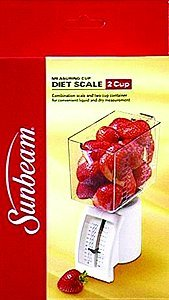 - Sunbeam Diet Scale with Measuring Cup