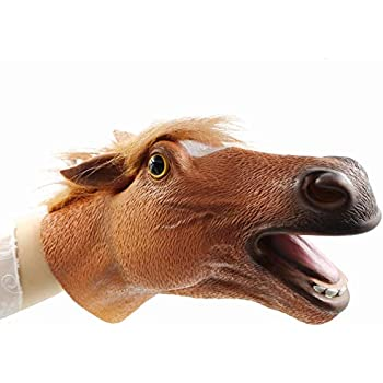 Yolococa Hand Puppet Toys,Soft Rubber Realistic Horse Head