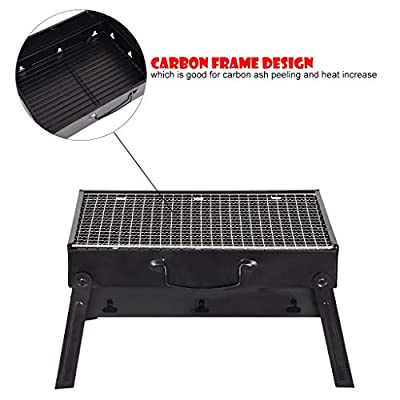 Gmgod❤️❤Barbecue BBQ,Charcoal Grill Folding Portable Lightweight Barbecue Camping Hiking Picnics: Clothing