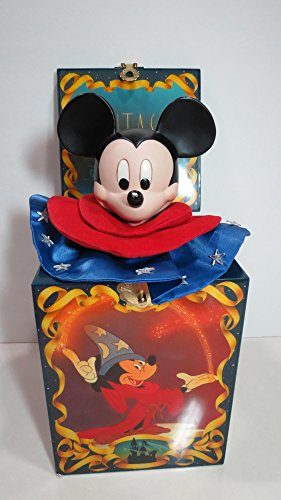 50th Anniversary Disney Fantasia Musical Mickey Jack in the Box Limited Ed. #2213 out of 15000 Plays the