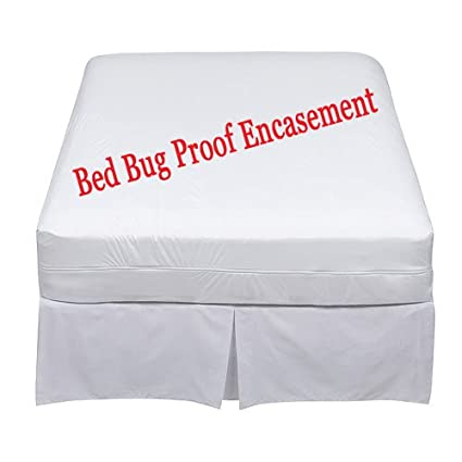 Bed Bug Mattress Cover.Vmart Bed Bug Proof Mattress Cover Queen Lab Certified Waterproof 60x80x9 12inches Mattress Encasement Protector Cover 6 Months Warranty Zippered