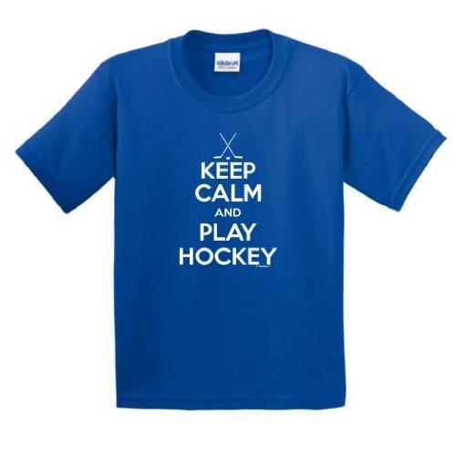Keep Calm Hockey Youth T Shirt