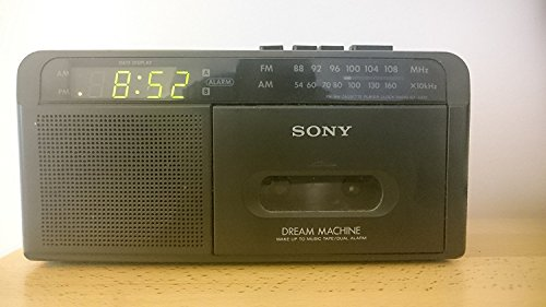SONY CASSETTE PLAYER AM/FM RADIO DIGITAL CLOCK