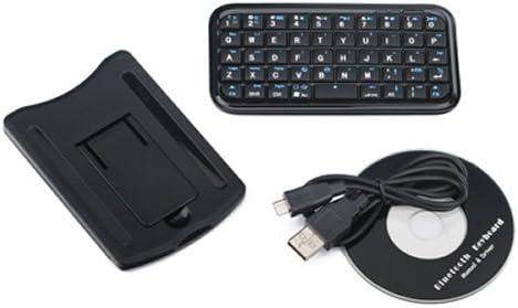 Negro Mini Teclado Inalámbrico Bluetooth para iPhone 4, iPad, iPAQ, PDA, Mac, Os, PS3, Droid, Smart Phones, PC, Ordenadores