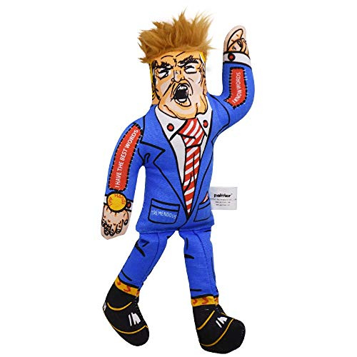 Presidential Parody Dog or Cat Toy,Squeaky Toys Dogs Donald Trump Dog Chew Toy - Funny Dog Toy Squeakers