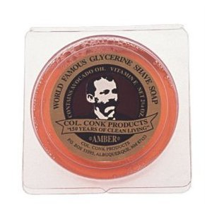 Col. Ichabod Conk Men's Amber Shaving Soap Shave Bar Sm (Conk Shave Mug Colonel)