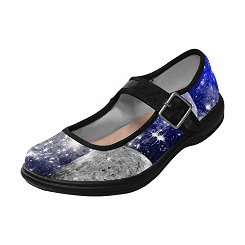 Interestprint Womens Comfort Mary Jane Flats Casual Scarpe Da Passeggio Multi 1