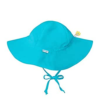 i play. Baby Brim Sun Protection Hat, Aqua, 0-6 months