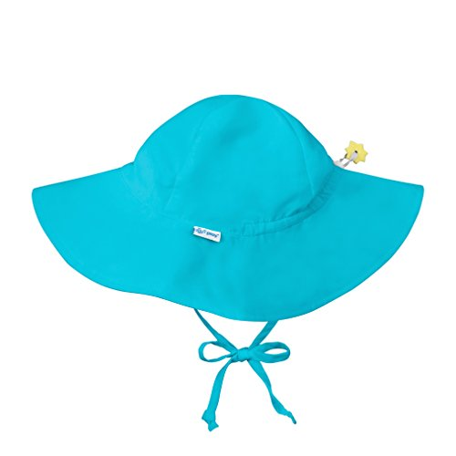 (i play. Baby Toddler Solid Brim Sun Protection Hat, Aqua 2T/4T)