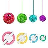 Arts & Crafts : Accmart 4 Sizes Pom-pom Maker for Fluff Ball DIY Wool Knitting Craft Tool Set