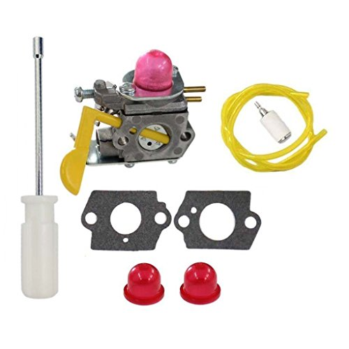 HURI Carburetor with Adjustment Tool Kit Screwdriver for Poulan Weed Eater Featherlite SST25C TE475Y TE475 XT260 XT700 Trimmer 530-071752 530-071822 by HURI