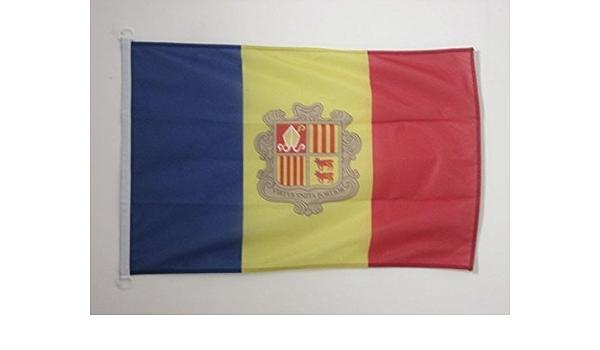 AZ FLAG Bandera Nautica de Andorra 45x30cm - Pabellón de conveniencia ANDORRANA 30 x 45 cm Anillos: Amazon.es: Hogar