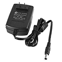 SODIAL(R) US Plug 100-240VAC to 5.5x2.5mm 24VDC 1A Power Supply Adapter Cable Black
